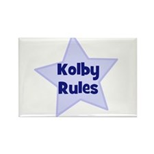 Kolby Rules Rectangle Magnet