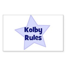 Kolby Rules Rectangle Decal