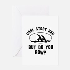 Rowing designs Greeting Card