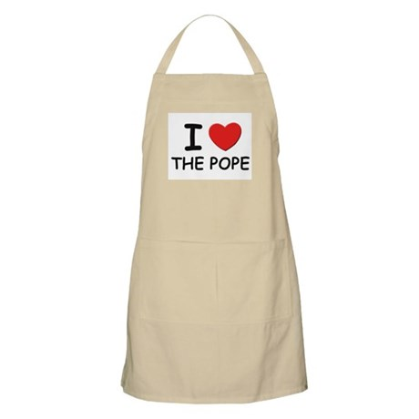 I love the pope BBQ Apron