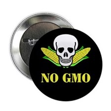 "NO GMO 2.25"" Button (10 pack)"