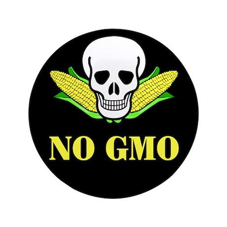 "NO GMO 3.5"" Button (100 pack)"