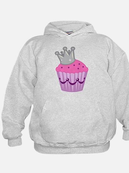 Purple silver cupcake Hoodie