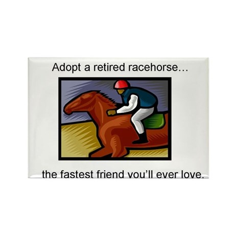 Adopt a Racehorse Rectangle Magnet (100 pack)