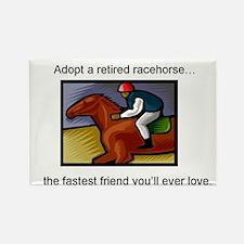 Adopt a Racehorse Rectangle Magnet