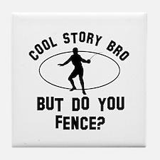 Fence designs Tile Coaster