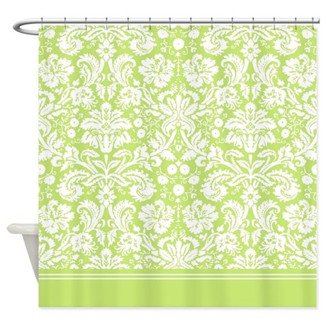 light green damask shower curtain by inspirationzstore