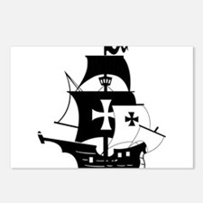pirate ship Postcards (Package of 8)
