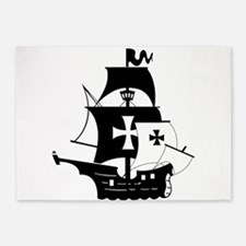 pirate ship 5'x7'Area Rug