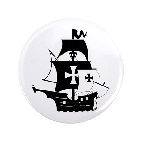 """pirate ship 3.5"""" Button (100 pack)"""