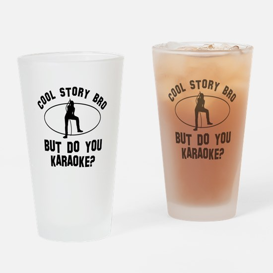 Karaoke designs Drinking Glass