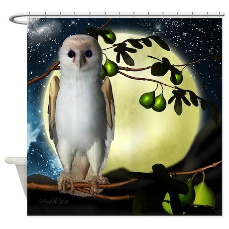 Barn owl fantasy shower curtain by moonlakedesigns for Fantasy shower curtains
