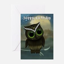 Cut Owl Birthday Greeting Card (Pk of 10)