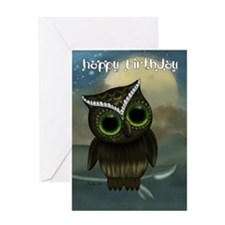 Cut Owl Birthday Greeting Card