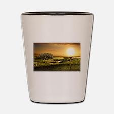 Golf sunset Shot Glass