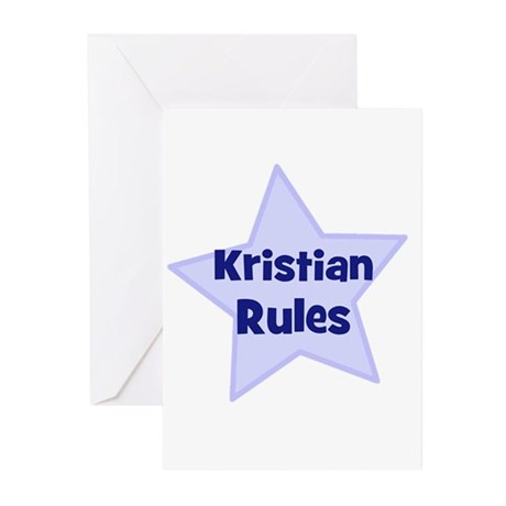 Kristian Rules Greeting Cards (Pk of 10)
