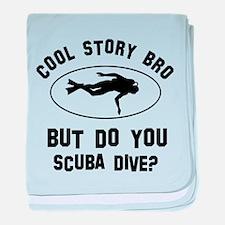 Scuba Dive designs baby blanket