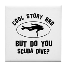 Scuba Dive designs Tile Coaster