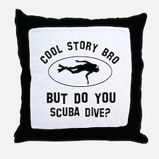 Scuba Dive designs Throw Pillow
