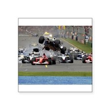 F1 Crash Sticker