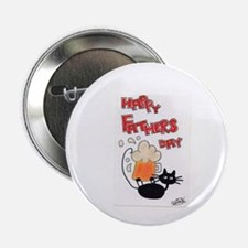 """Meow Cat - Fathers Day 2.25"""" Button"""