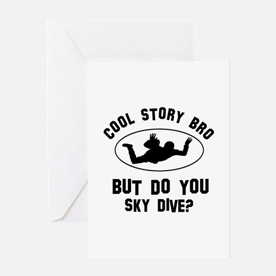 Sky Dive designs Greeting Card