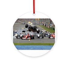 F1 Crash Ornament (Round)