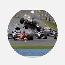 F1 Crash Ornament (Round)