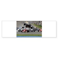 F1 Crash Bumper Bumper Sticker
