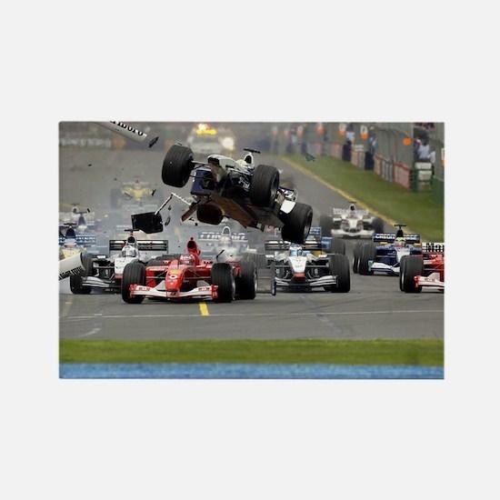 F1 Crash Rectangle Magnet