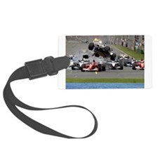 F1 Crash Luggage Tag
