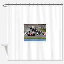 F1 Crash Shower Curtain