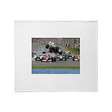F1 Crash Throw Blanket