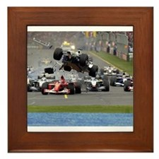 F1 Crash Framed Tile