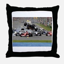 F1 Crash Throw Pillow