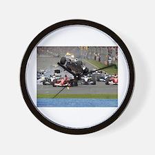 F1 Crash Wall Clock