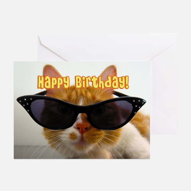 Birthday Cool Cat Greeting Cards (Pk of 10)