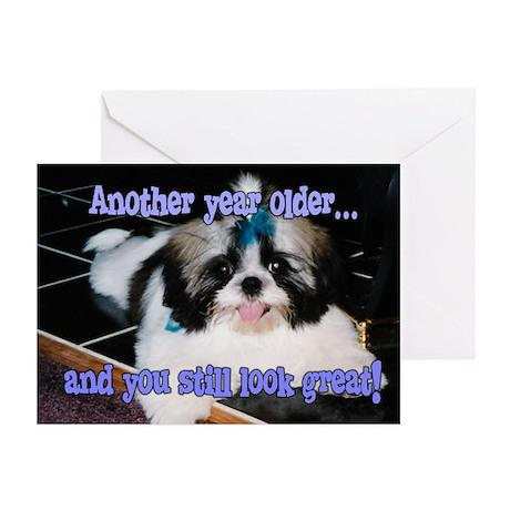 Birthday Shih-Tzu Puppy Greeting Cards (Pk of 10)