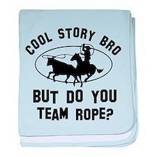 Team Rope designs baby blanket