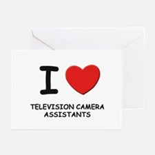 I love television camera assistants Greeting Cards