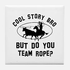 Team Rope designs Tile Coaster