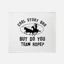 Team Rope designs Throw Blanket