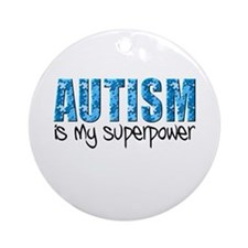 Autism is my superpower (Puzzle) Ornament (Round)