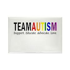 Team Autism (Rainbow) Rectangle Magnet