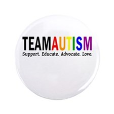 "Team Autism (Rainbow) 3.5"" Button"