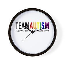 Team Autism (Rainbow) Wall Clock