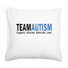 Team Autism (Blue) Square Canvas Pillow