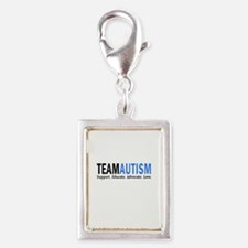 Team Autism (Blue) Silver Portrait Charm