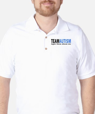 Team Autism (Blue) Golf Shirt