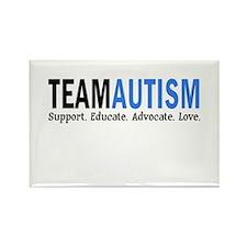Team Autism (Blue) Rectangle Magnet (10 pack)